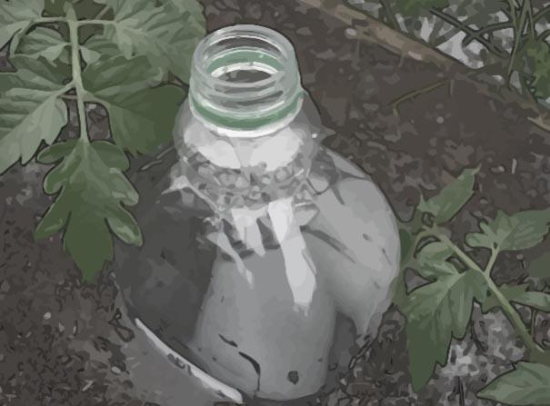 Irrigazione in  vacanza bottiglie